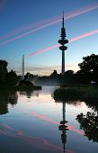 Heinrich-hertz-turm And Planten Un Blomen Park, Hamburg