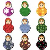 traditional russian dolls matryoshka scrapbook