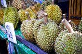 Thai Fruit, Durian In Market