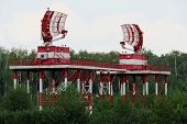 NIZHNY NOVGOROD. RUSSIA. JULY 31, 2014. STRIGINO AIRPORT.Radar station of civil aviation