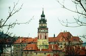 Old Town Roof View, Chesky Krumlov, Czech Republic