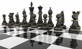 foto of three kings  - Chess table with metal Chess figures - JPG