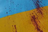 KIEV, UKRAINE - JULY 15, 2014. Ukraine flag graffiti . July 15, 2014 Kiev, Ukraine