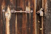 Ornated Door And Padlock