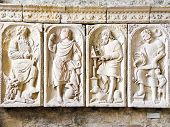 Reliefs In Church-abbey Of Mont Saint Michel