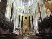 Nave Of Amiens Cathedral, France