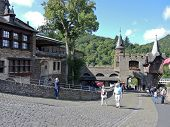 Tourists In Cochem Imperial Castle, Germany