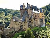 View Of Castle Eltz Above Mosel River, Germany
