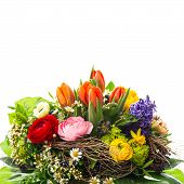 Bouquet Of Colorful Spring Flowers
