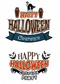 Halloween costume party banners