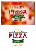 Retro pizza label or banner