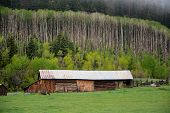 Barn on high country ranch.