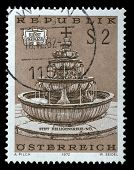 AUSTRIA - CIRCA 1972: a stamp printed in the Austria shows fountain, circa 1972
