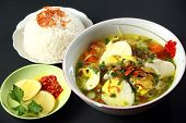 stock photo of ayam  - Indonesian chicken soto or soto ayam - JPG