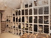 Wine cellar with old riesling wine