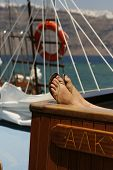Sunbathing On The Yacht poster