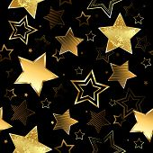 Seamless With Golden Stars