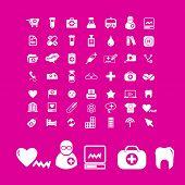doctor, medicine icons set, vector