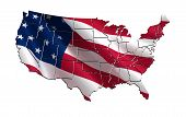 picture of state shapes  - 3D map of the USA  - JPG