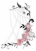 Roses And Spiderweb