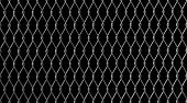 Chain Link Fence On Black