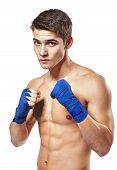 Young Handsome Male Boxer Fighter