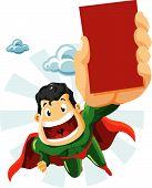Superhéroe con anuncios