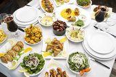 Lebanese food presentation
