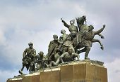 monument Chapaev and his army in Samara Russia