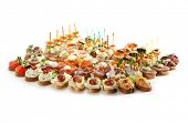 picture of canapes  - Canapes Isolated on White Background - JPG