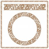 Illustration. Seamless Pattern Stylized As Henna