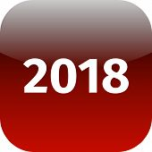 Year 2018 Red Icon