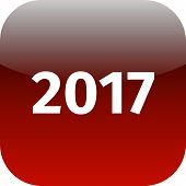 Year 2017 Red Icon