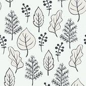Seamless leafs pattern