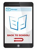 Back To School Message On Tablet Screen
