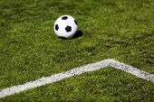 Green Pitch With Soccer Ball
