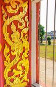 Design Of Window Of Temple