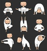 Man doing Yoga Asana Collection