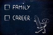 Lifestyle Choices: Multiple Choice Test, Family Or Career