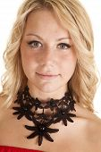 Choker Black Flower Necklace