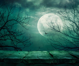 pic of scary haunted  - Halloween background - JPG