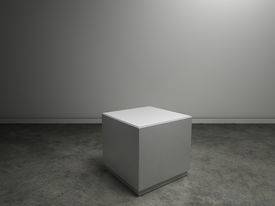 stock photo of plinth  - empty plinth in gallery or museum  to place your product - JPG