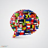 picture of flags world  - World flags in form of speech bubble - JPG
