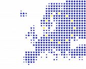 Map And Flag Of Europe poster