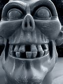 foto of hayride  - Gruesome gargoyle face with jagged teeth - JPG
