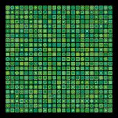 Abstract green geometric vector background