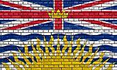 Flag Of British Columbia Painted On Brick Wall