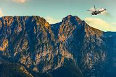stock photo of military helicopter  - Helicopter in the Tatra Mountains  - JPG