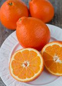 foto of tangelo  - Sweet oranges fruits - JPG