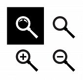 Search vector logo design template. magnifying glass or zoom icon.